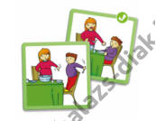 Jó viselkedés - otthon - képkártya