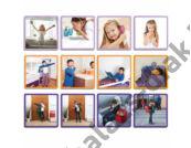 Mindennapi cselekvések - sorozat képkártya