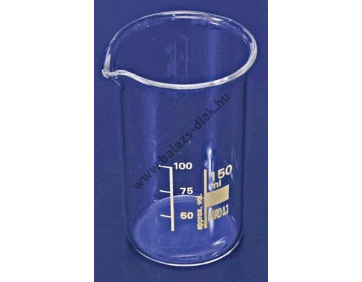 Főzőpohár alacsony 150ml kiöntővel beosztással