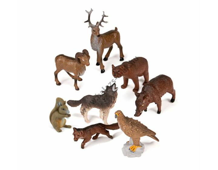 Erdei állatok, 8 figura
