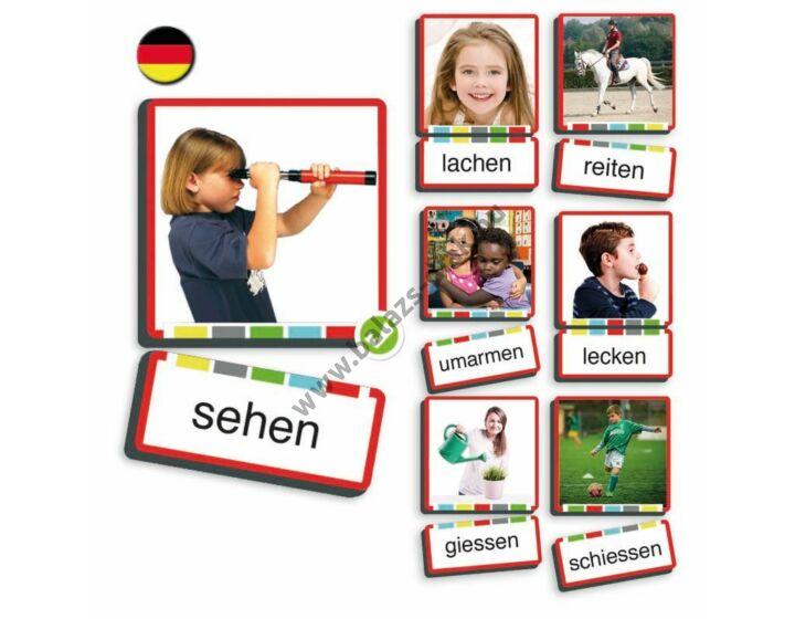 Kép és szó kártya - Igék, cselekvések német