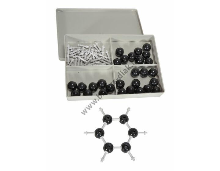 Grafit kristályrácsa molekula modell készlet