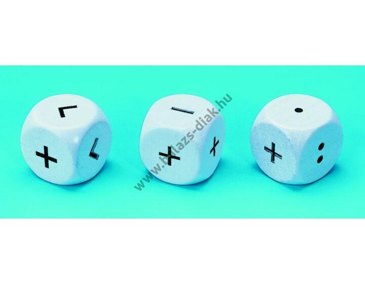 Dobókocka - 10 db =.:++- műveleti jelekkel