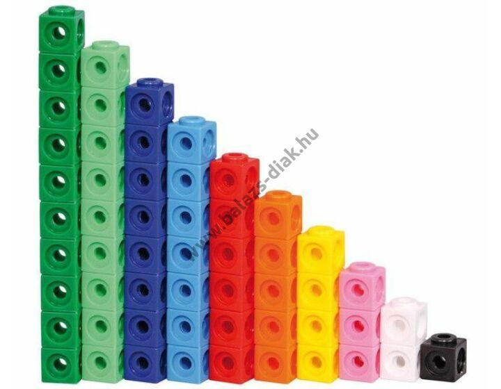 Számoló kocka - Piros, sárga színű