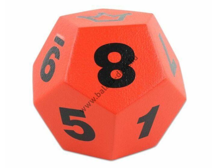 Dodekaéder piros 20 cm óriás dobótest