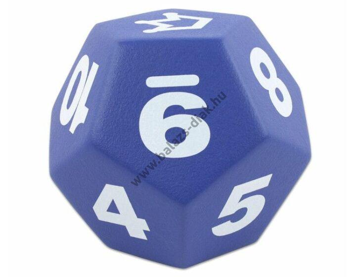 Dodekaéder kék 20 cm óriás dobótest