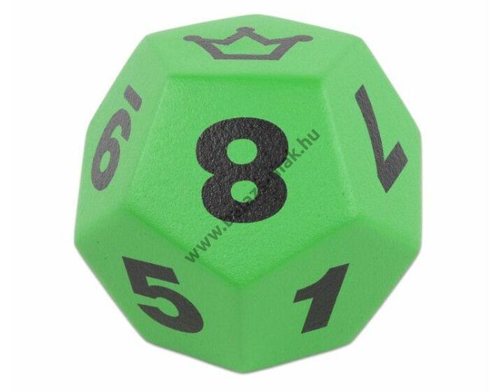 Dodekaéder zöld 20 cm óriás dobótest