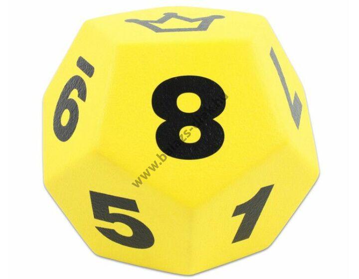 Dodekaéder sárga 20 cm Óriás dobótest