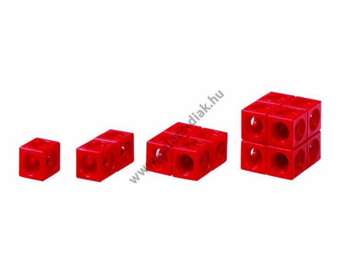 Számoló kocka - Piros színű