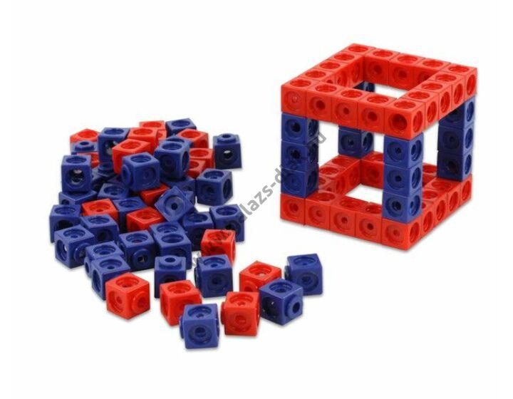 Számoló kocka/műa./kül. piros/kék
