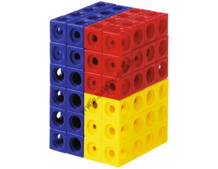Számoló kocka - Piros, sárga, kék, zöld színű