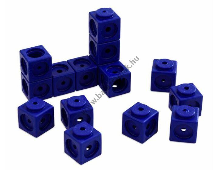 Óriás lyukas kocka - 40 db-os készlet - kék