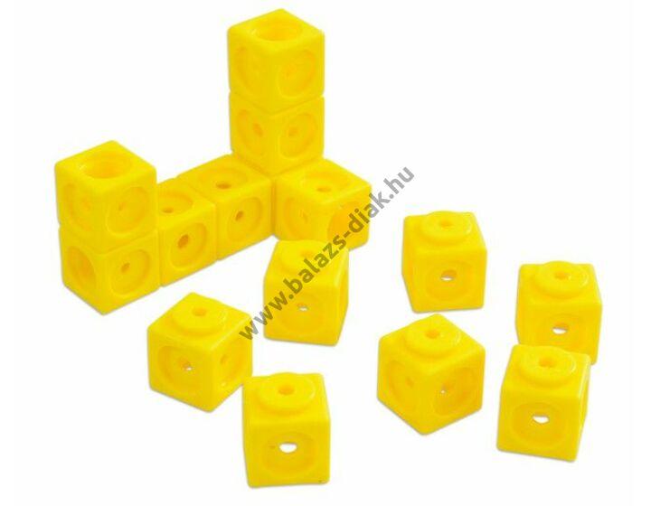 Óriás lyukas kocka - 40 db-os készlet - sárga