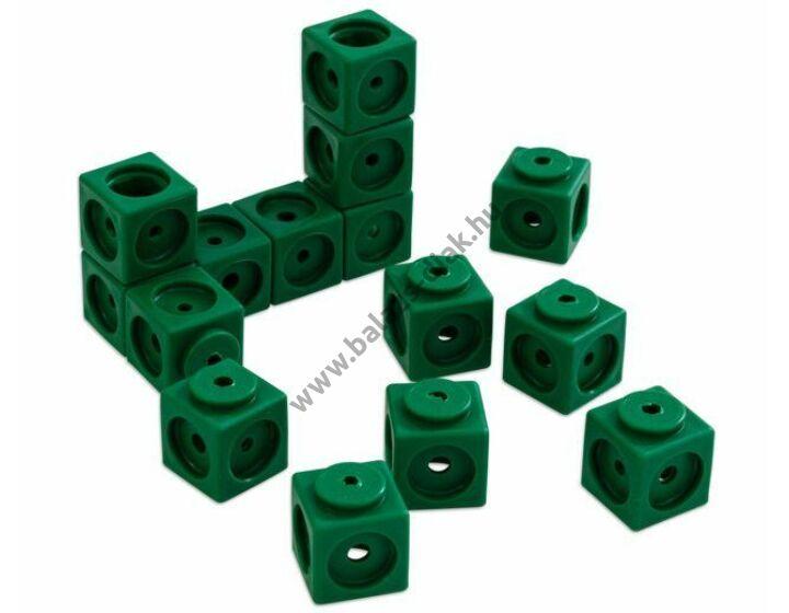 Óriás lyukas kocka - 40 db-os készlet - zöld