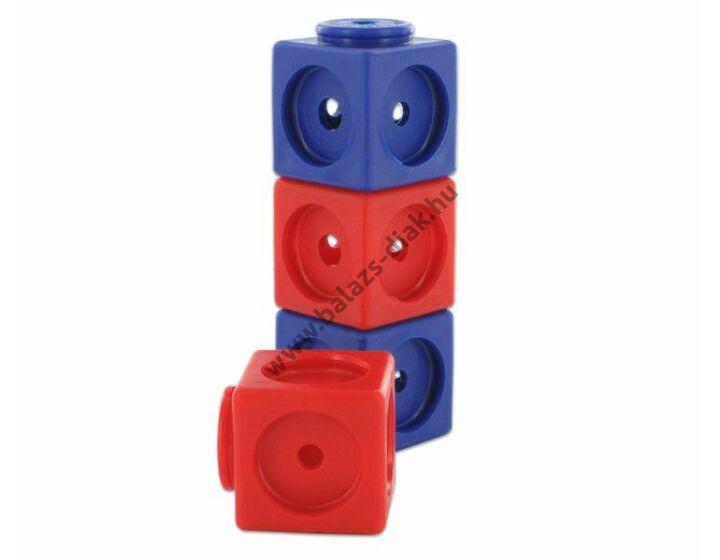Óriás lyukas kocka - 40 db-os készlet - piros, kék
