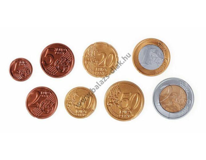 Euro pénzérmék műanyagból