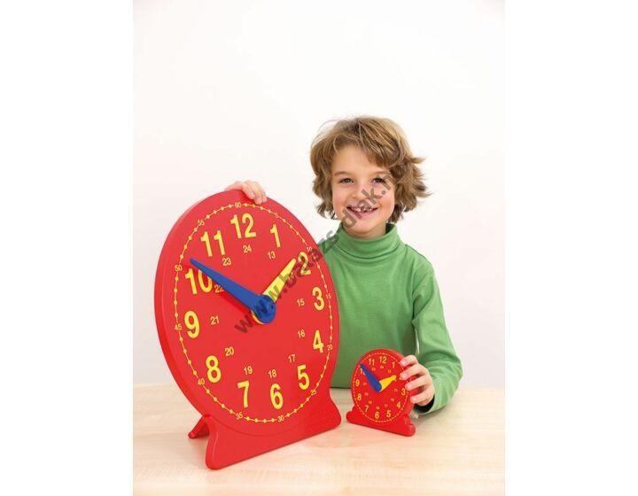 Tanári demonstrációs óra - piros,mágneses,átm.41cm