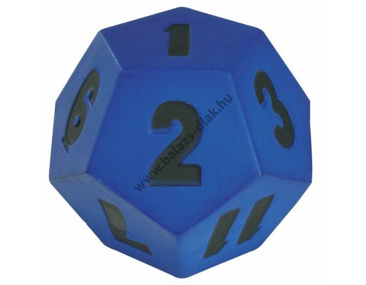Számkocka 1-12-ig 10 cm kék 75g