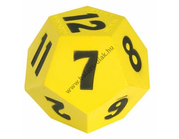 Számkocka 1-12-ig 10 cm sárga 75g