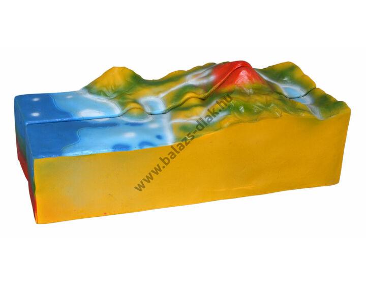 Vulkán modell 17x20x45 cm
