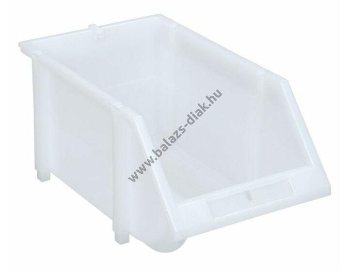 Kis nyitott tárolórekeszek transzparens-tejfehér színben