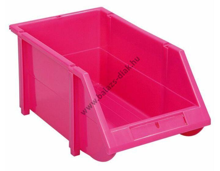 Kis nyitott tárolórekeszek pink színben