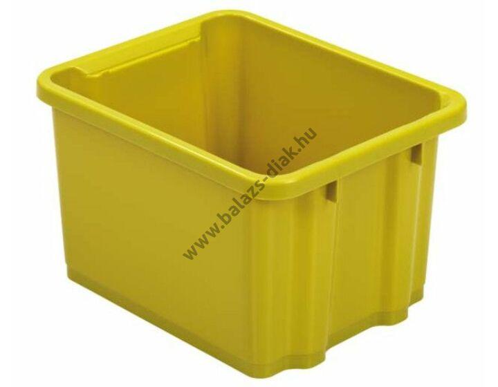 3806115674c6 Közepes méretű műanyag ládák zöld színben - Tárolás