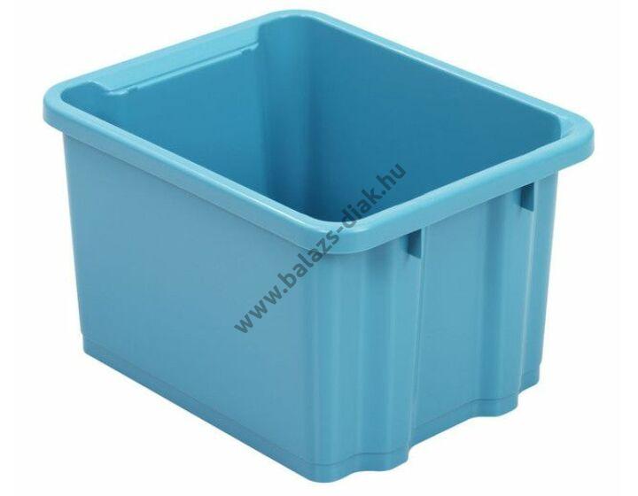 Közepes méretű műanyag ládák kék színben