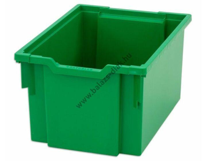Nagyméretű fedeles ládák zöld színben