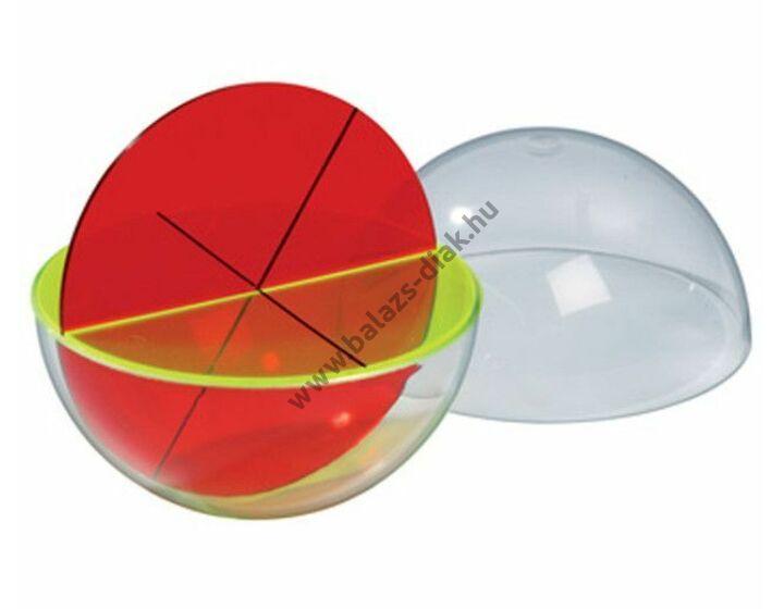Gömb modell-kúpokra szétszedhető