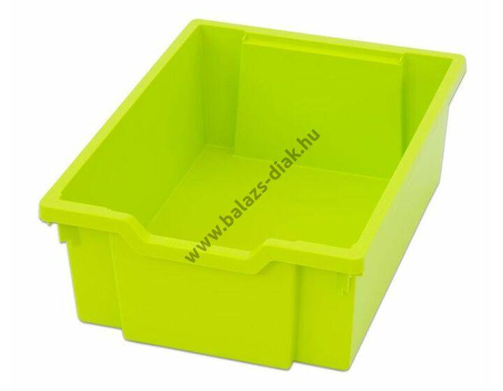 Rendszerező tároló doboz - alacsonyfalú - világos zöld