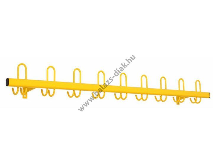 Színes fali fogas 18 db akasztóval sárga színű