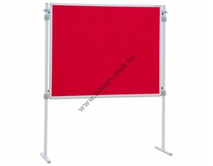 Paraván tűzhető tábla, piros 150x120 (láb nélkül)