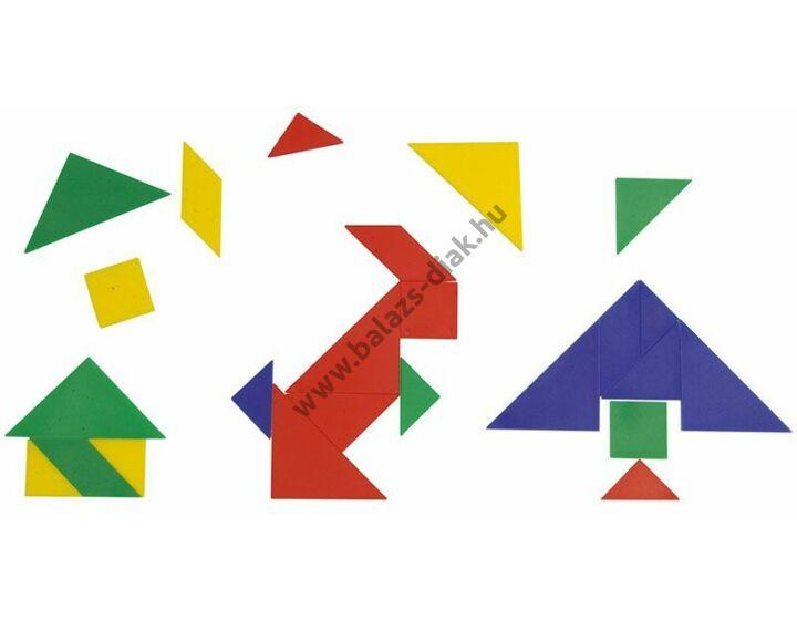 Tanulói tangram - 15 db-os szett
