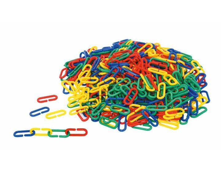 Számoló kapcsok - 500 db,4 szín, 1,7x4 cm