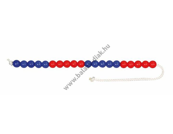 Számolólánc - piros-kék