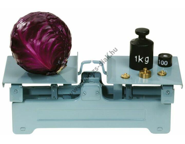 Tanári demonstrációs fém mérleg 5 kg-ig mér