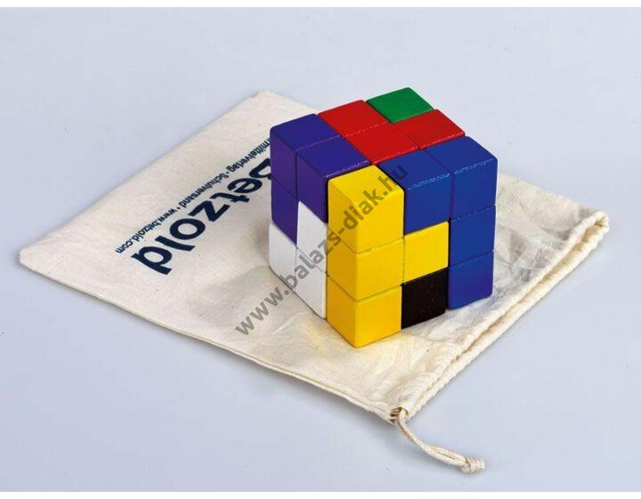 Soma kocka - színes, vászon zsákocskában