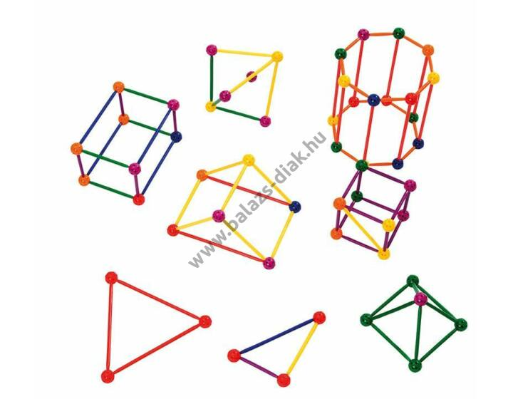 Geometriai építőkészlet - 250 darabos