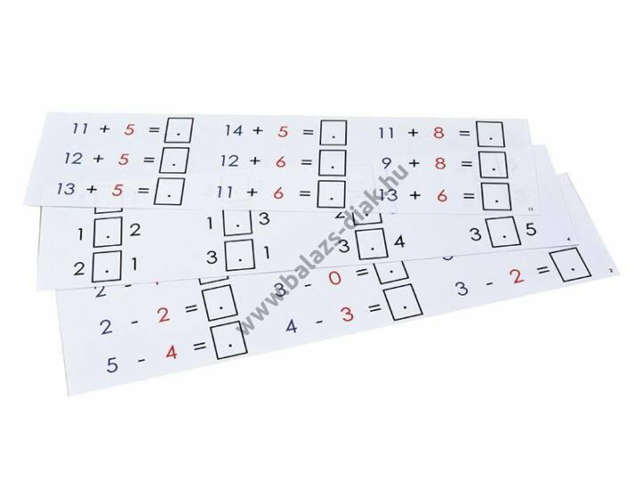 Feladatkártyák Kalóz-számolóbokszhoz
