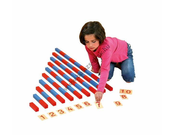 Kék piros rudak 10-100cm
