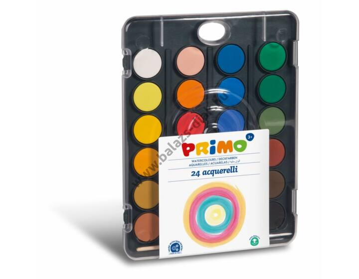 Vízfesték festő paletta 24 szín, 30 mm