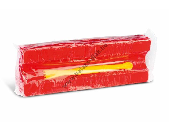 Gyurma 550g-os, gyurmaformázóval, piros