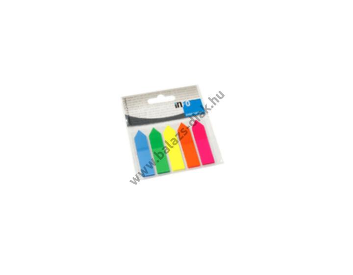 Jelölőcímke GLN 12x50 mm, 5x25 lap, nyilak, átlátszó csomagolásban (műanyag)