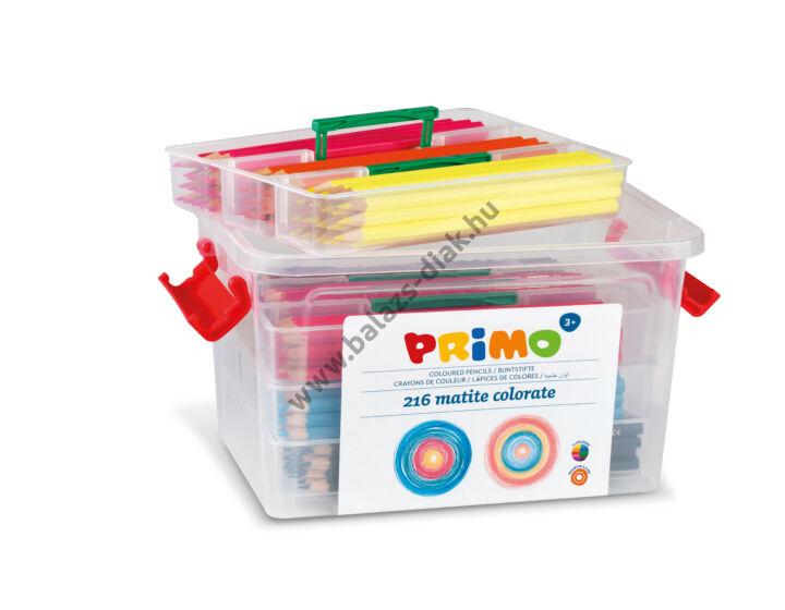 Hatszögletű színesceruza készlet műanyag tároló dobozban (216 darabos)