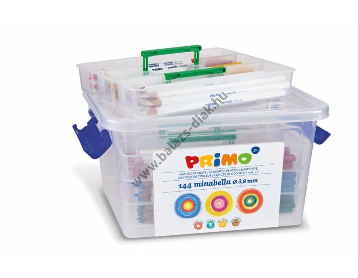 Hatszögletű színesceruza készlet műanyag tároló dobozban (144 darabos)