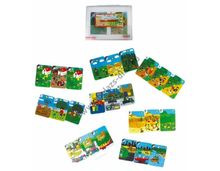 Ökológiai tettek és következmények - 24 részes képkártya szett