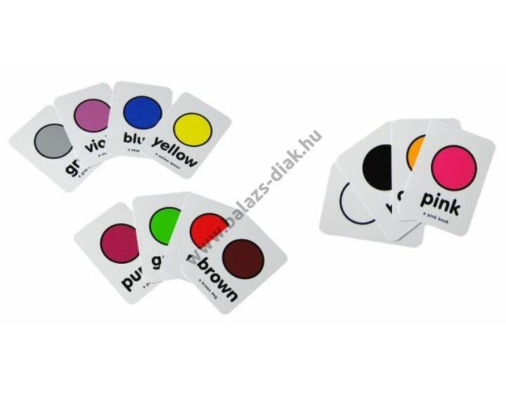 Tanulókártyák - színek (angol)