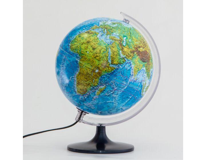Földgömb átvilágítós DUO-25 cm, műa. talpon