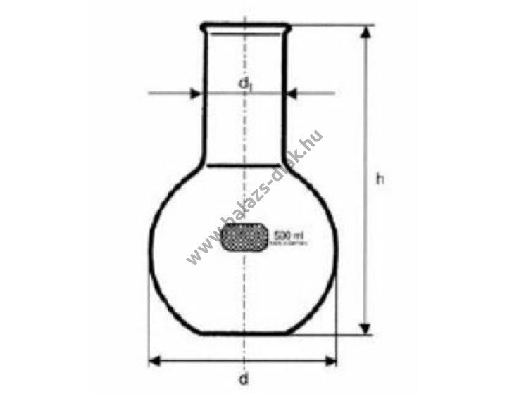 Állólombik, szűknyakú, 1000 ml Simax üvegből